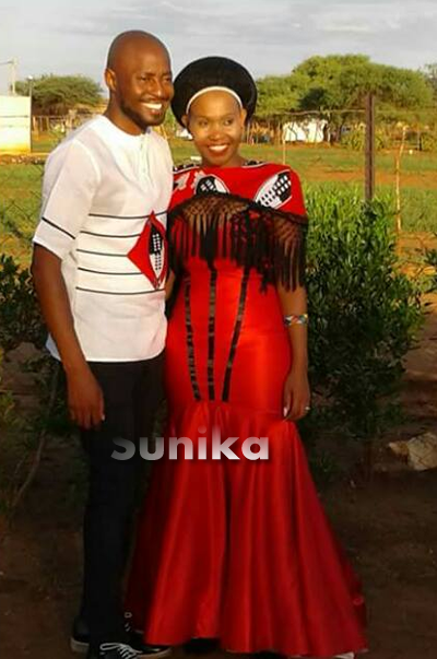 Swazi Traditional Attire For Couples