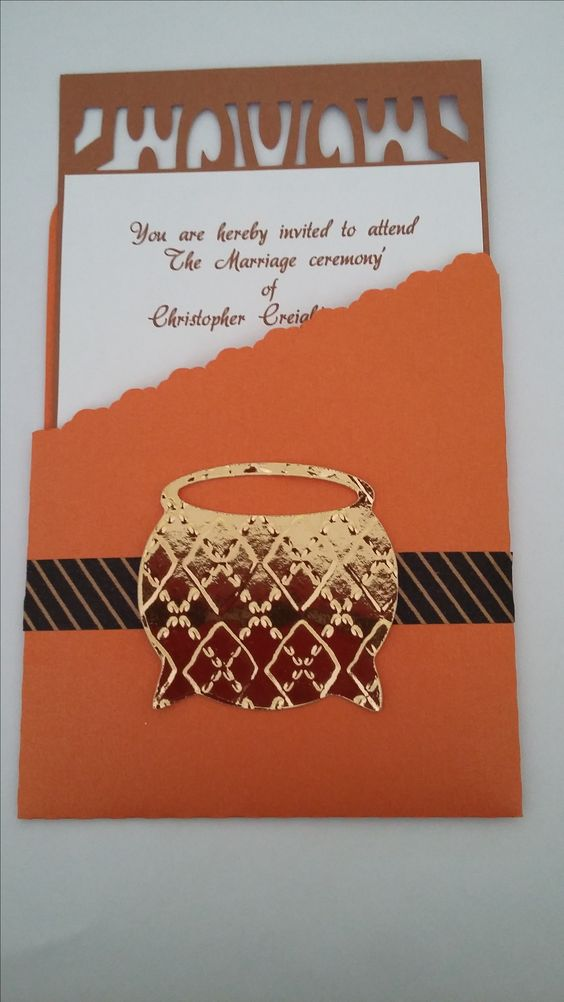 Xhosa Tradititional Wedding Invitations