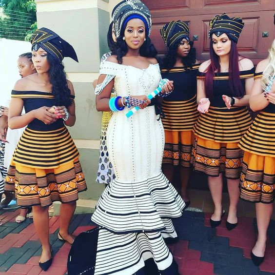Beaded Xhosa Wedding Dress
