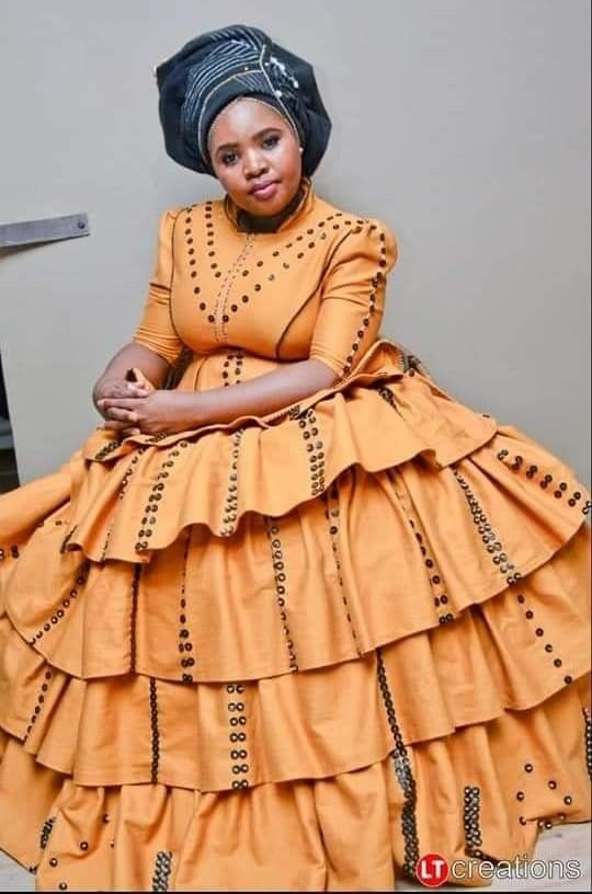 Beige Xhosa Dress