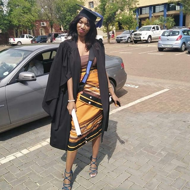 Beige Xhosa Graduation Dress