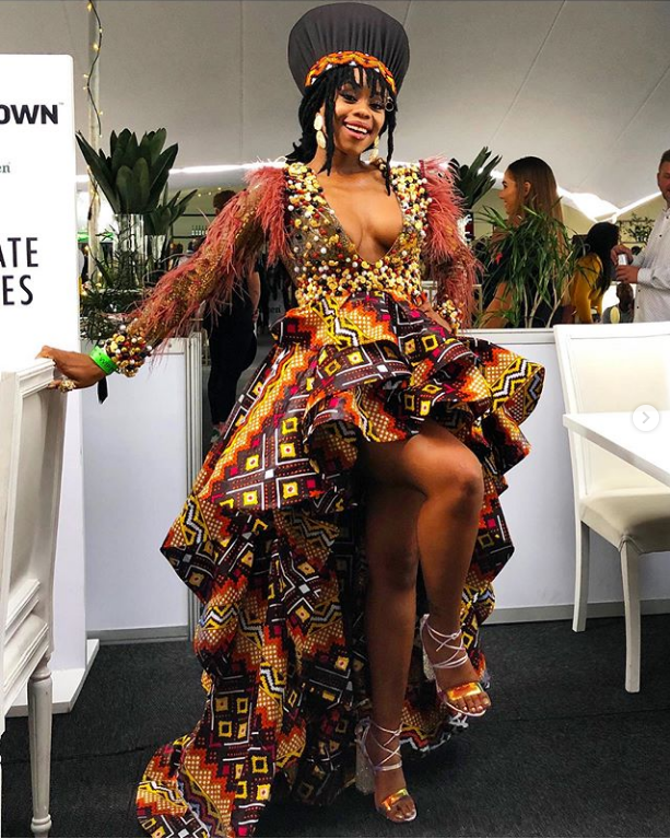 South African Celebrities in Traditional Wear