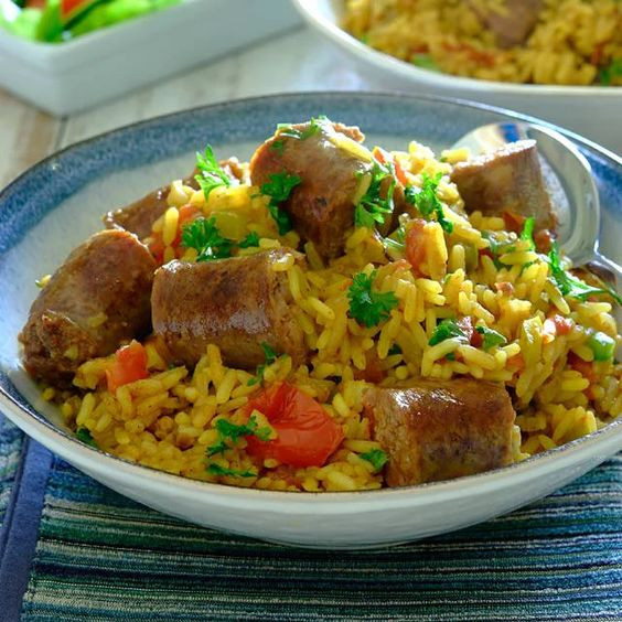 Boerewors with fried rice