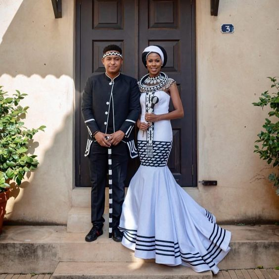 Royal Look Xhosa Couples Attire
