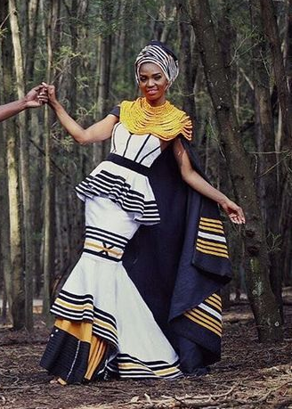 Xhosa Traditional Dress With Robe