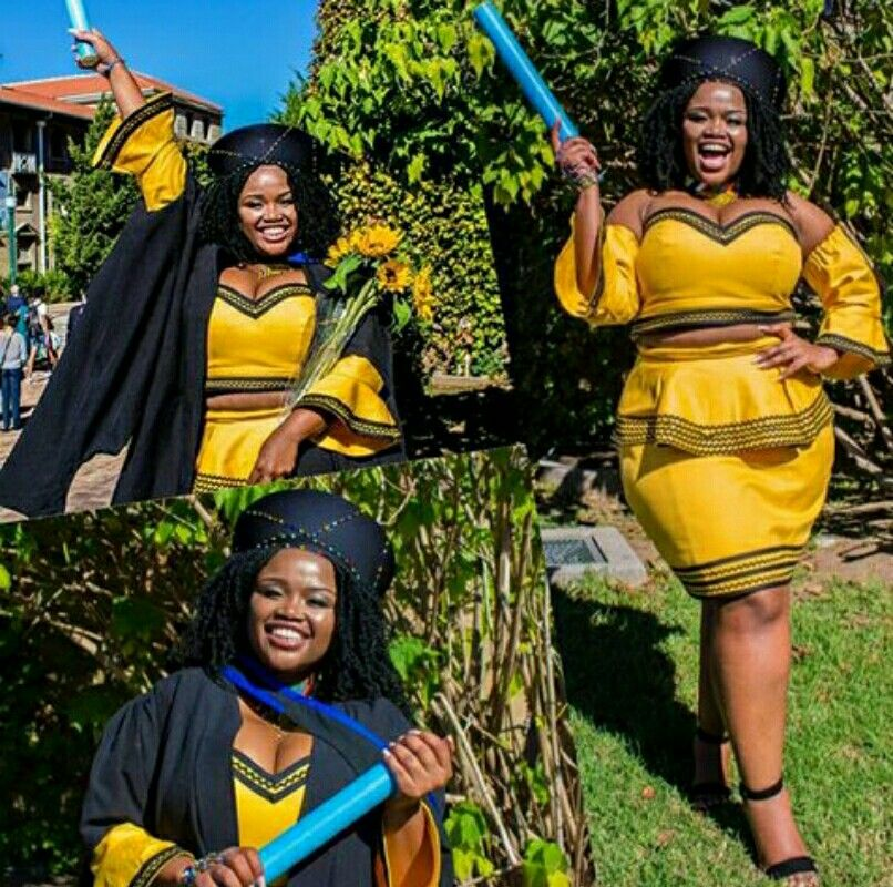 Yellow Xhosa Graduation Outfit