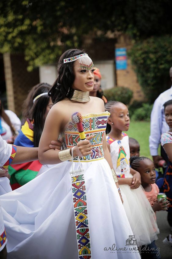 Modern Ndebele Wedding Dress