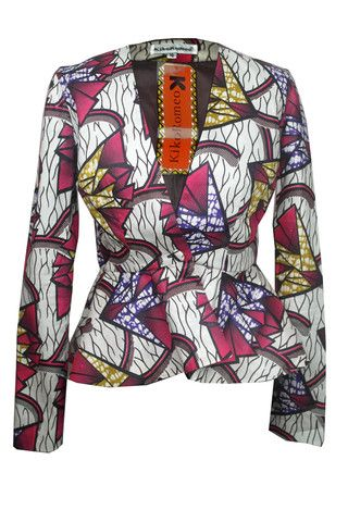 African Print Jacket 22