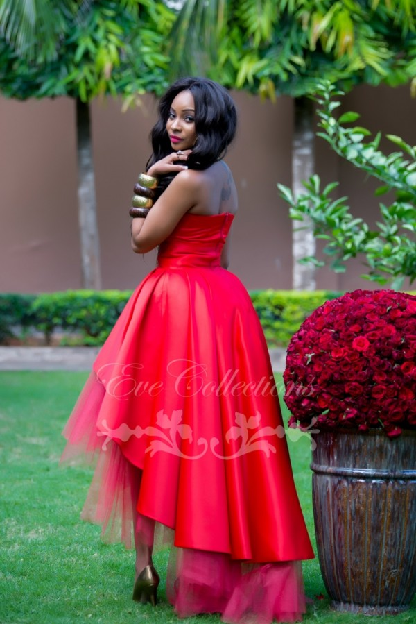 Red High Low Traditional Wedding Dress